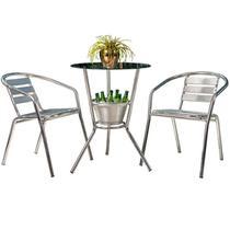 Conjunto de Mesa com 2 Cadeiras para Varanda CJMB4091002-Alegro Móveis -