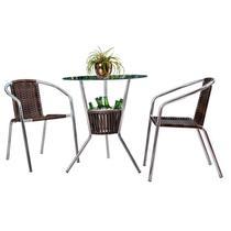 Conjunto de Mesa com 2 Cadeiras para Varanda CJMB410992-Alegro Móveis -