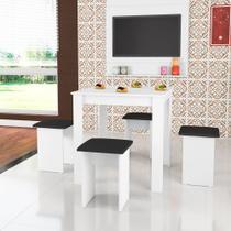Conjunto de Mesa com 4 Banquetas Estofadas CJ018 Art in Móveis -