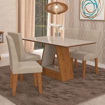 Conjunto de Mesa com 4 Cadeiras Alana/Milena - Cimol -