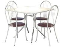Conjunto de Mesa com 4 Cadeiras Brigatto - Fortaleza