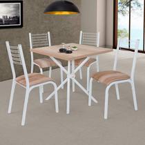 Conjunto de Mesa com 4 Cadeiras Camila Ciplafe Capuccino -