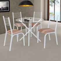 Conjunto de Mesa com 4 Cadeiras Camila Clássica Ciplafe Capuccino -