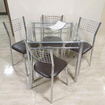 Conjunto de Mesa com 4 Cadeiras Cromada - Centro do movel
