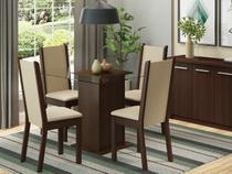 Conjunto de Mesa com 4 Cadeiras Estofadas Madesa - Aline
