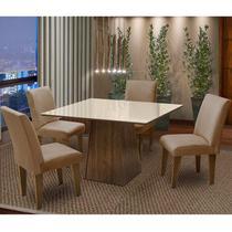 Conjunto de Mesa com 4 Cadeiras Florença  Dobue. -