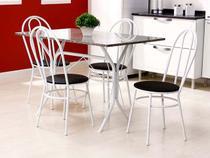 Conjunto de Mesa com 4 Cadeiras Metalmix - Carla