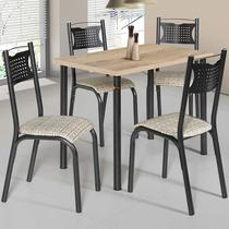 Conjunto De Mesa Com 4 Cadeiras - Poeme - Ciplafe -