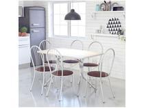 Conjunto de Mesa com 6 Cadeiras Brigatto - Fortaleza