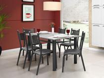 Conjunto de Mesa com 6 Cadeiras - Ciplafe Poeme