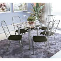 Conjunto De Mesa Com 6 Cadeiras Crome CMC269CR -
