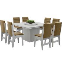 Conjunto de Mesa Com 8 Cadeiras - Amsterdam - Dobuê - Dobue