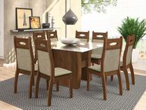 Conjunto de Mesa com 8 Cadeiras Pérola - Celta Móveis