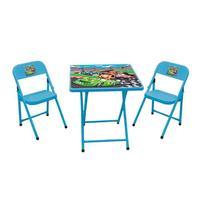 Conjunto de Mesa com Cadeira Sapeca Carros Azul Bebê-Metalmix -