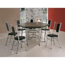 Conjunto de Mesa de Jantar com 6 Cadeiras Toronto Ameixa Negra e Preto - Brastubo