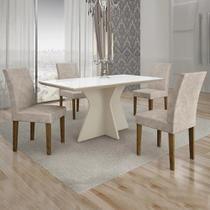 Conjunto de Mesa de Jantar Creta 4 Cadeiras BOWYPP - Leifer