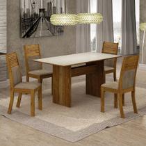 Conjunto de Mesa de Jantar Florença 4 Cadeiras OWCAC - Leifer