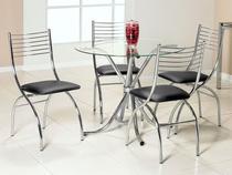 Conjunto de Mesa Évora 4 Cadeiras  - Brigatto
