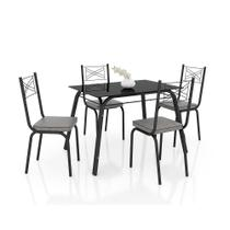Conjunto de Mesa Lotus 107 cm com 4 cadeiras 119 Artefamol -