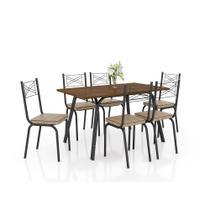 Conjunto de Mesa Lotus 136cm com 6 cadeiras 119 Artefamol -