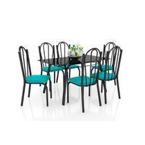 Conjunto de Mesa Lotus 140 cm com 6 cadeiras 121 Artefamol -