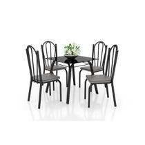Conjunto de Mesa Lotus Soft 75cm com 4 Cadeiras 121 Artefamol -