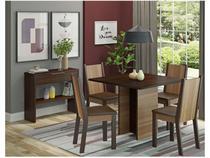 Conjunto de Mesa Madeira com 4 Cadeiras Estofadas - Madesa Atenas