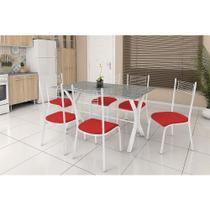 Conjunto de Mesa Miami com 6 cadeiras Bueno Aires Fabone -