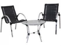 Conjunto de Mesa para Área Externa Alumínio - com 2 Cadeiras Famais Garden