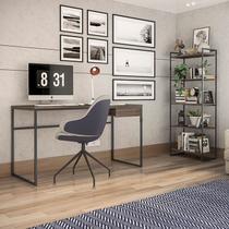 Conjunto de Mesa para Computador Elisa e 1 Estante com 5 Prateleiras -Brastubo -
