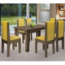 Conjunto de Mesa Para Cozinha e Sala de Jantar com 06 Cadeiras Miami - Dobuê