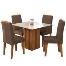 Conjunto de Mesa para Sala de Jantar Ana com 4 Cadeiras Milena-Cimol -