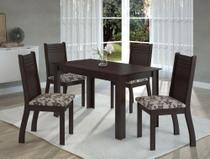 Conjunto De Mesa Para Sala De Jantar Clara Com 4 Cadeiras - At house