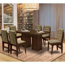 Conjunto de Mesa Para Sala de Jantar Com 06 Cadeiras Amsterdam - Dobuê