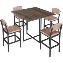 Conjunto de Mesa para Sala de Jantar com 4 Banquetas 1954-Brastubo -