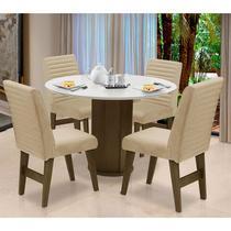 Conjunto de Mesa para Sala de Jantar com 4 Cadeira Turim-Dobue -