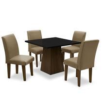 Conjunto de Mesa para Sala de Jantar com 4 Cadeiras Florença Fit - Dobue -