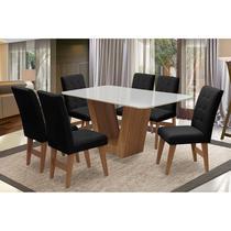 Conjunto de Mesa para Sala de Jantar com 6 Cadeira Veneza-Dobue -