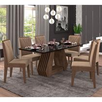 Conjunto de Mesa para Sala de Jantar com 6 Cadeiras 180x90 Agata/Nicole-Cimol -