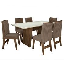 Conjunto de Mesa para Sala de Jantar com 6 Cadeiras Vigo -Dobuê Movelaria - Dobue