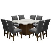 Conjunto de Mesa para Sala de Jantar com 8 Cadeiras Esparta-Dobue -