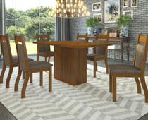 Conjunto De Mesa Para Sala De Jantar Copenhage Com 6 Cadeiras - At house