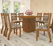 Conjunto De Mesa Para Sala De Jantar Criciuma Com 8 Cadeiras - At house