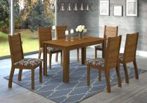 Conjunto De Mesa Para Sala De Jantar Suiça Com 6 Cadeiras - At house