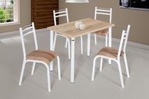 Conjunto de Mesa Plaza 1,10 com 4 Cadeiras Ciplafe -