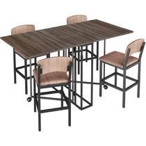 Conjunto de Mesa Retangular para Sala de Jantar com 4 Banquetas 1956-Brastubo -