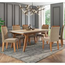 Conjunto de Mesa Selena 1,80cm para Sala de Jantar com 6 Cadeiras Paola-Cimol -