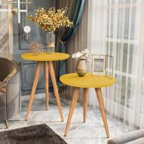 Conjunto de Mesas para Sala Redonda Apoio e Lateral Classic - Compre Aqui