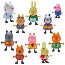 Conjunto de Mini Figuras - 5 Cm - Peppa Pig - Peppa Fantasias - Dtc -