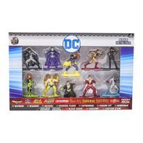 Conjunto de Miniaturas Nano Metalfigs DC Comics 10 peças DTC -